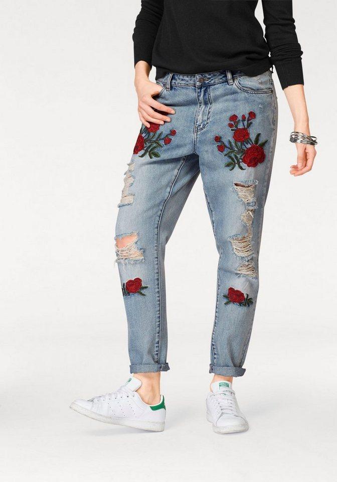 only boyfriend jeans tonni mit stickerei kaufen otto. Black Bedroom Furniture Sets. Home Design Ideas