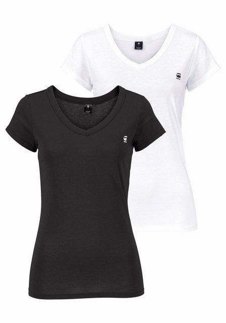 G-Star RAW V-Shirt »Logo V-neck« (Packung, 2er-Pack) | Bekleidung > Shirts > V-Shirts | G-Star Raw