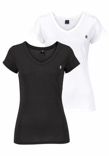 V 2er V Raw star packung neck« G »logo shirt pack wE8agXq