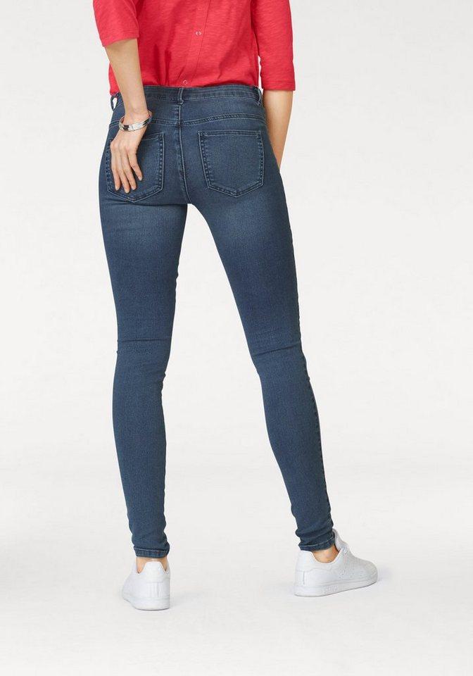Only Skinny-fit-Jeans »ROYAL BIKER« Biker-Details an den Oberschenkeln in blue