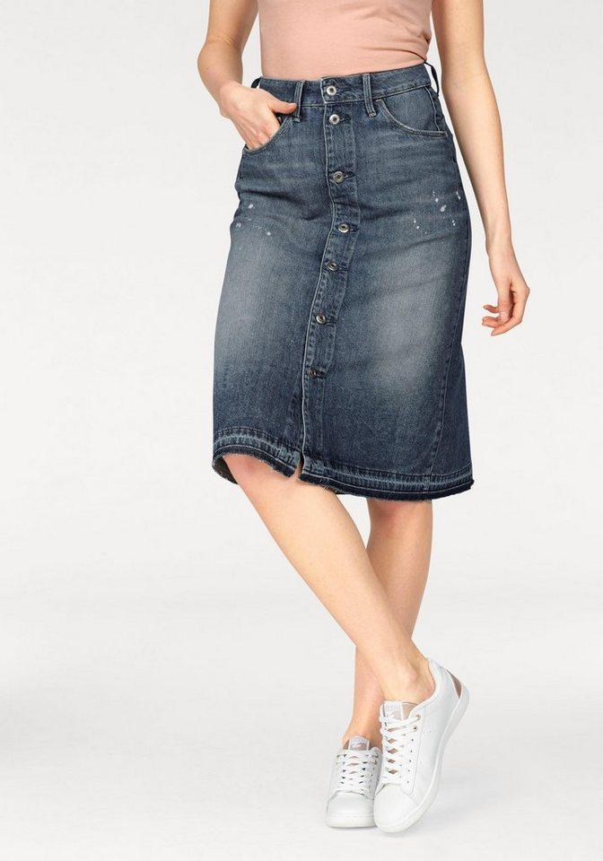 g star jeansrock arc btn a line midl skirt mit durchgehender knopfleiste online kaufen otto. Black Bedroom Furniture Sets. Home Design Ideas