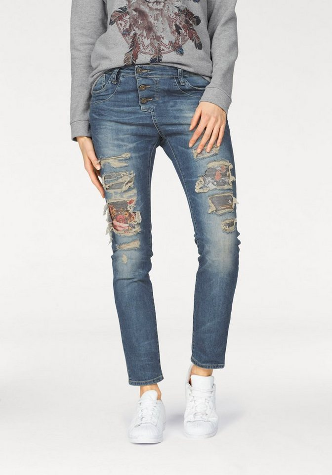 Please Jeans Destroyed-Jeans in light-blue