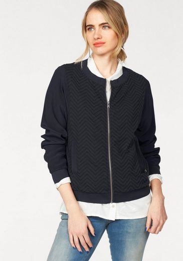 Garcia Blouson Jacket, Made Of Trendy Material Mix