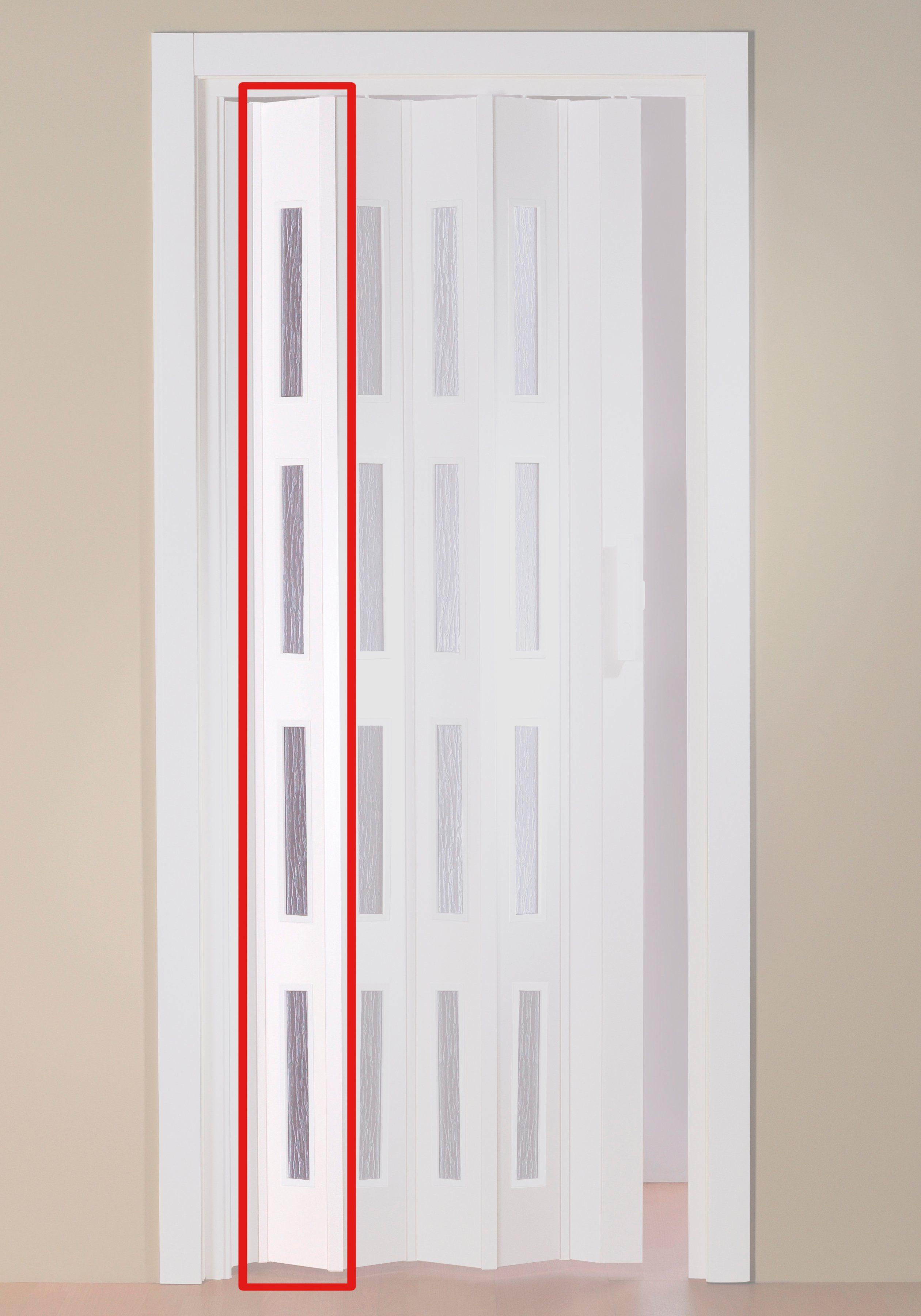 Türerweiterung , Zusatz-Lamelle für Falttür »Luciana«, weiß + Fenster