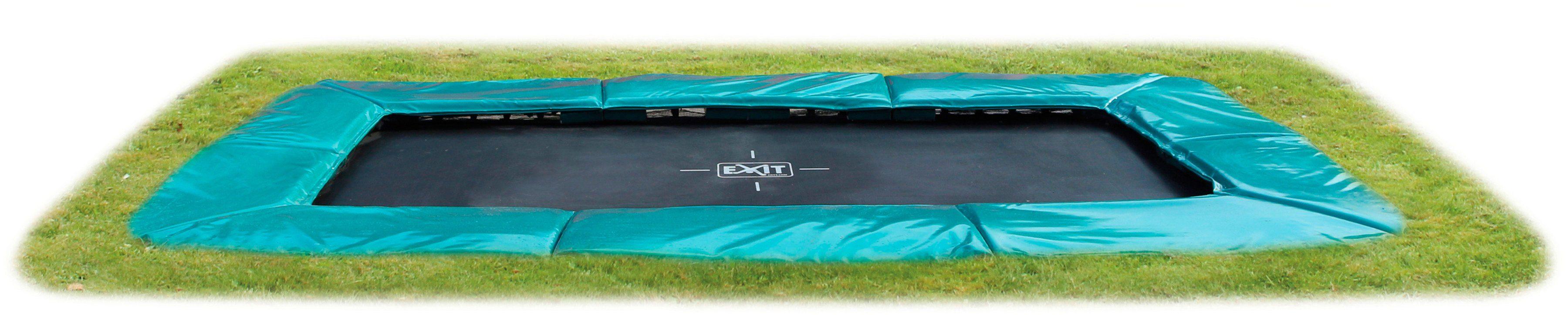 EXIT Trampolin »Supreme Ground Level«, BxT: 366x214 cm, rechteckig, grün