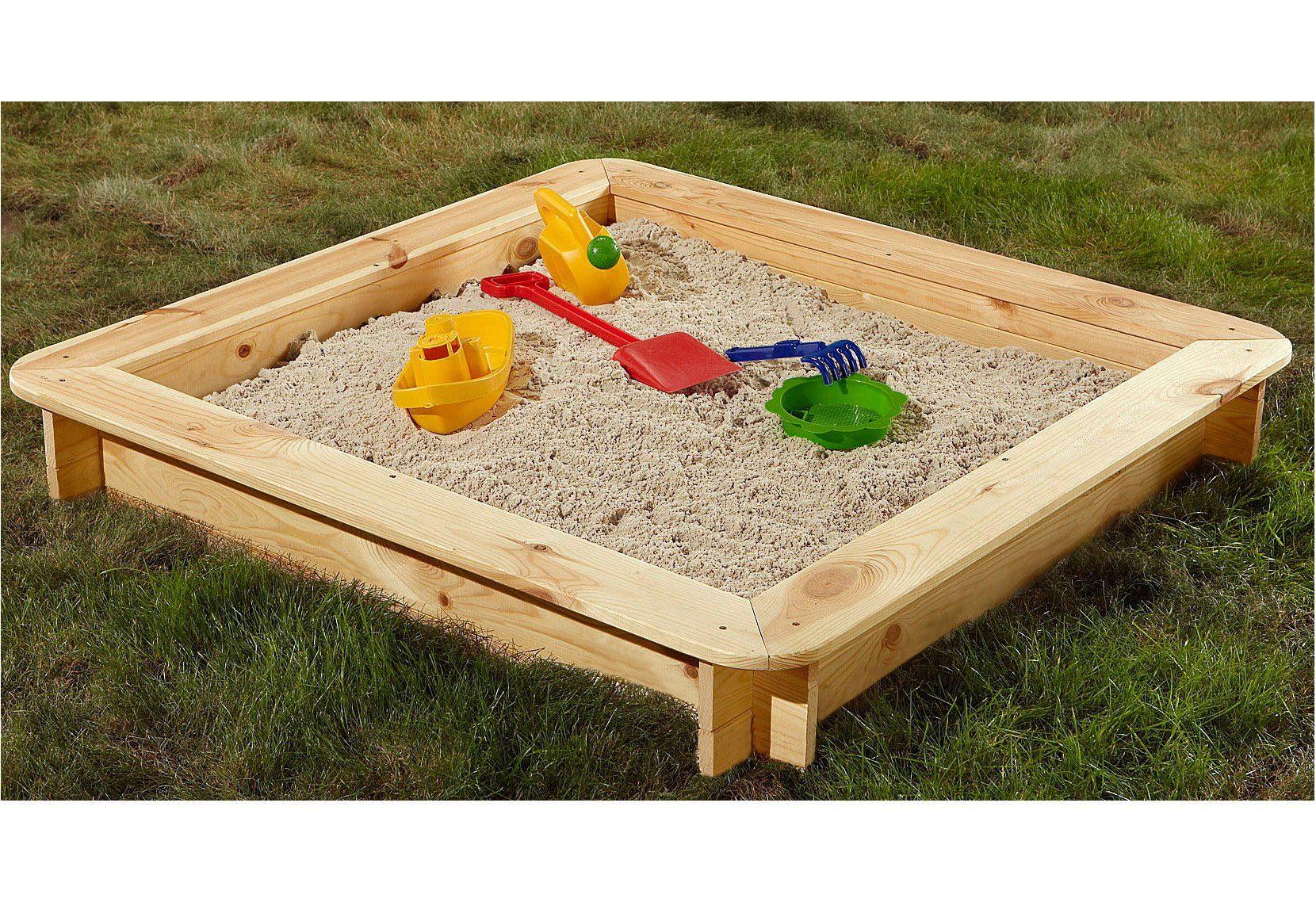Sandkasten »Jara«, BxTxH: 118x20x118 cm