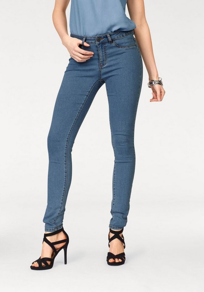 Noisy may Stretch-Jeans »LUCY« in blue-used