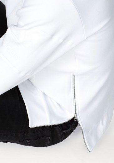 adidas Originals Sweatshirt WINTER D-CREW, Hohe Reißverschlüsse seitlich