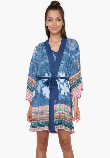 Desigual Easier Kimono With Tie Belt