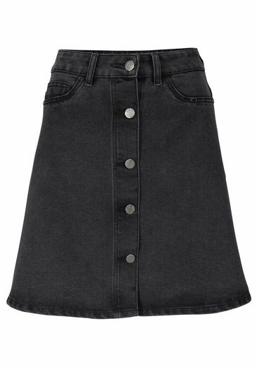 Noisy May Denim Skirt Sunny, In A Form With Button Tape