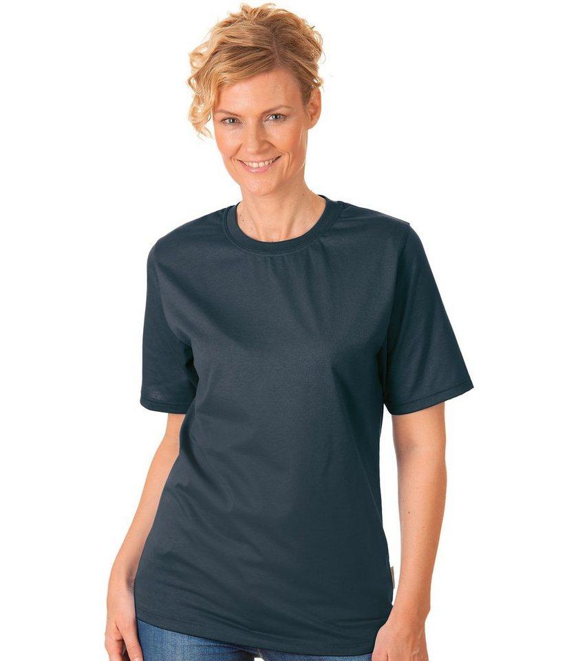 TRIGEMA T-Shirt 100% Baumwolle in anthrazit