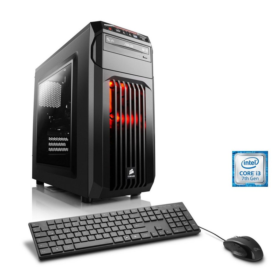 CSL Gaming PC | Core i3-7100 | AMD Radeon RX 460 | 8 GB DDR4 RAM »Speed T5815 Windows 10 Home«