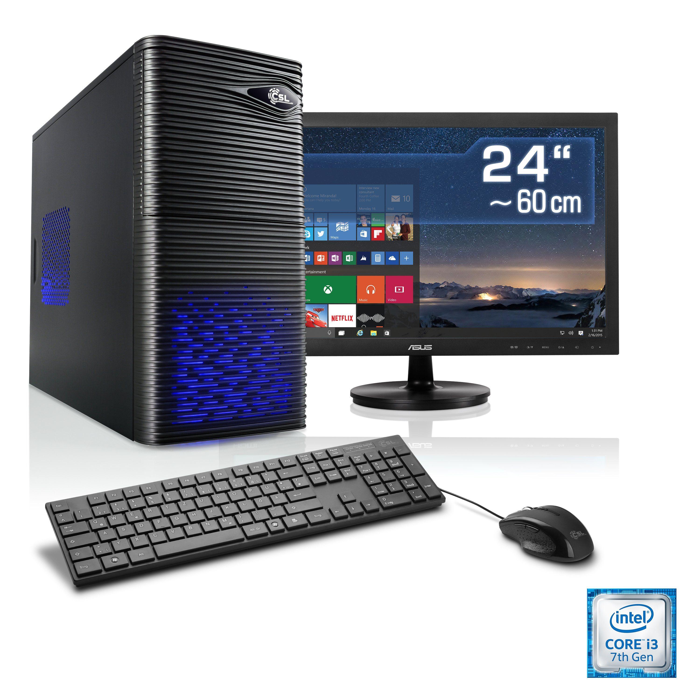 "CSL Multimedia PC Set | i3-7100 | Intel HD Graphic | 8 GB | 24"" TFT »Speed T5812 Windows 10 Home«"