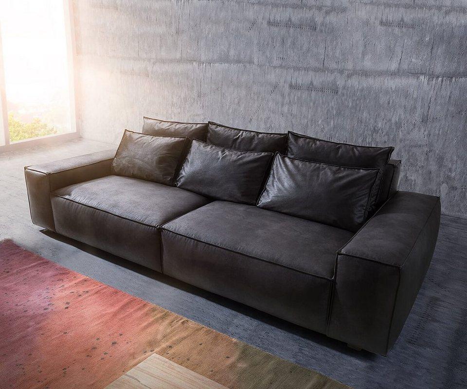 DELIFE Bigsofa Sirpio XL Anthrazit 270x125 cm Kedernaht online kaufen