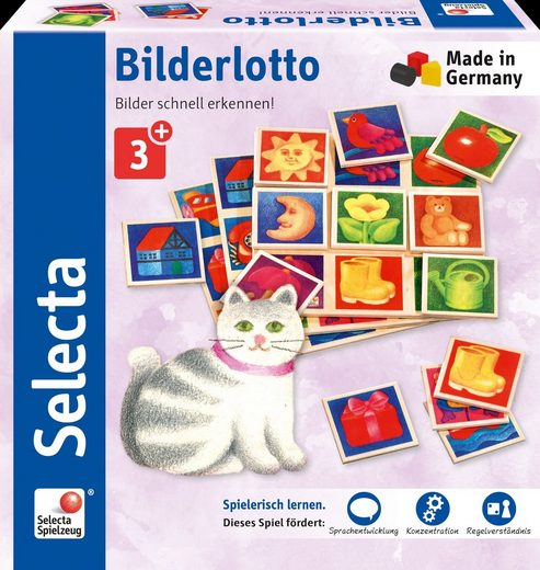 Selecta Spiel, »Bilderlotto«, aus Holz, Made in Germany
