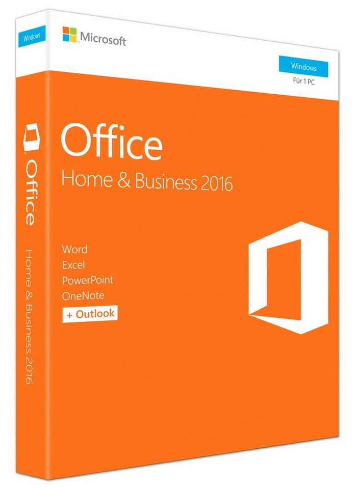 Microsoft Office-Paket »Office Home & Business 2016 (Win)«