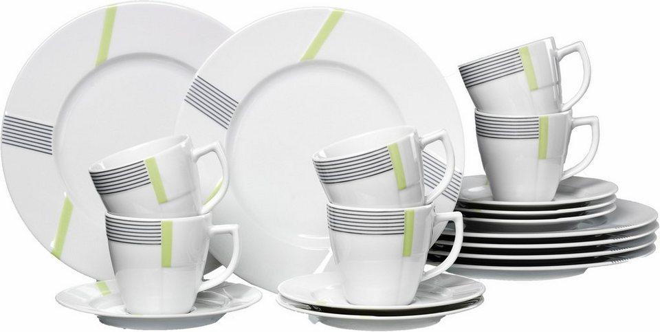 ritzenhoff breker kaffeeservice porzellan vertigo 18 teilig online kaufen otto. Black Bedroom Furniture Sets. Home Design Ideas
