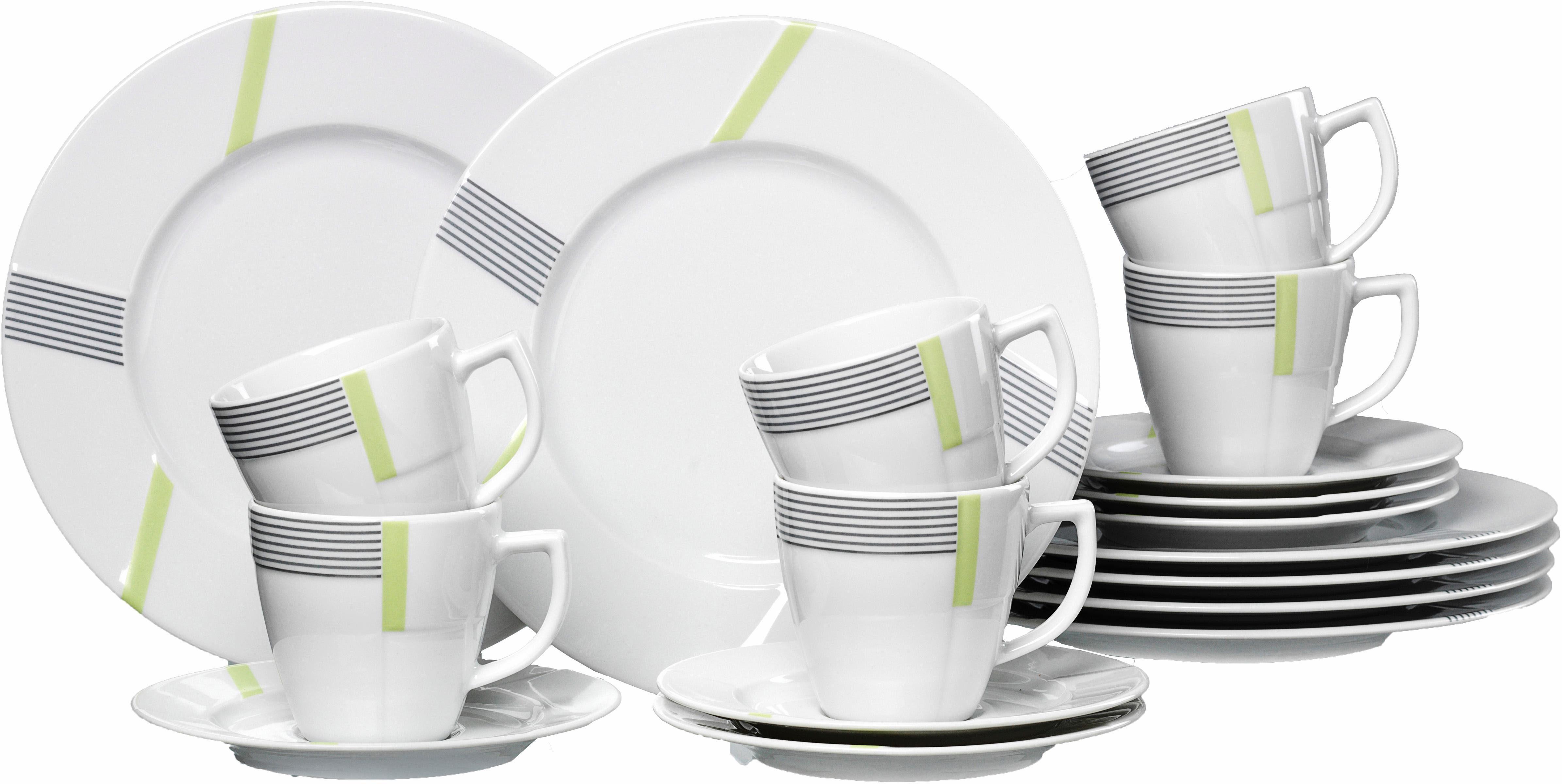 Ritzenhoff & Breker Kaffeeservice »VERTIGO« (18-tlg), Porzellan, Spülmaschinengeeignet