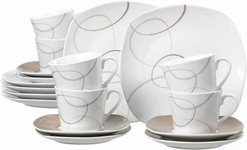 Ritzenhoff & Breker Kaffeeservice »Alina« (18-tlg), Porzellan, Spülmaschinengeeignet