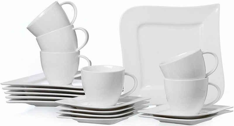 Ritzenhoff & Breker Kaffeeservice »Melodie« (18-tlg), Porzellan, Spülmaschinengeeignet