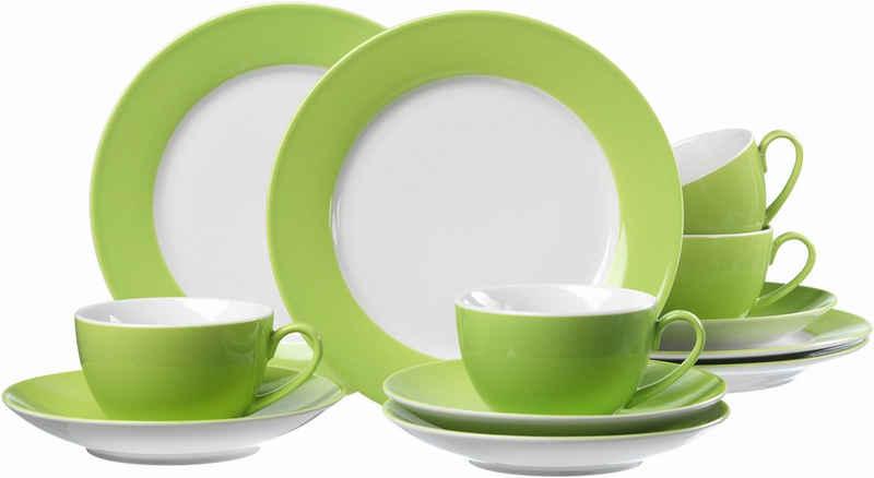 Ritzenhoff & Breker Kaffeeservice (12-tlg), Porzellan, Spülmaschinengeeignet