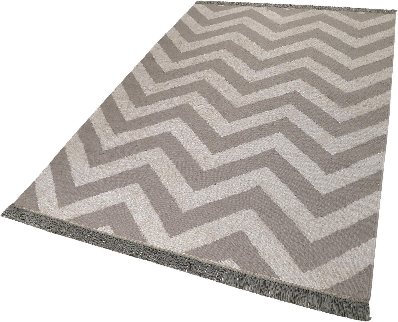 Teppich »Zig-Zag«, carpets&co, rechteckig, Höhe 5 mm - broschei