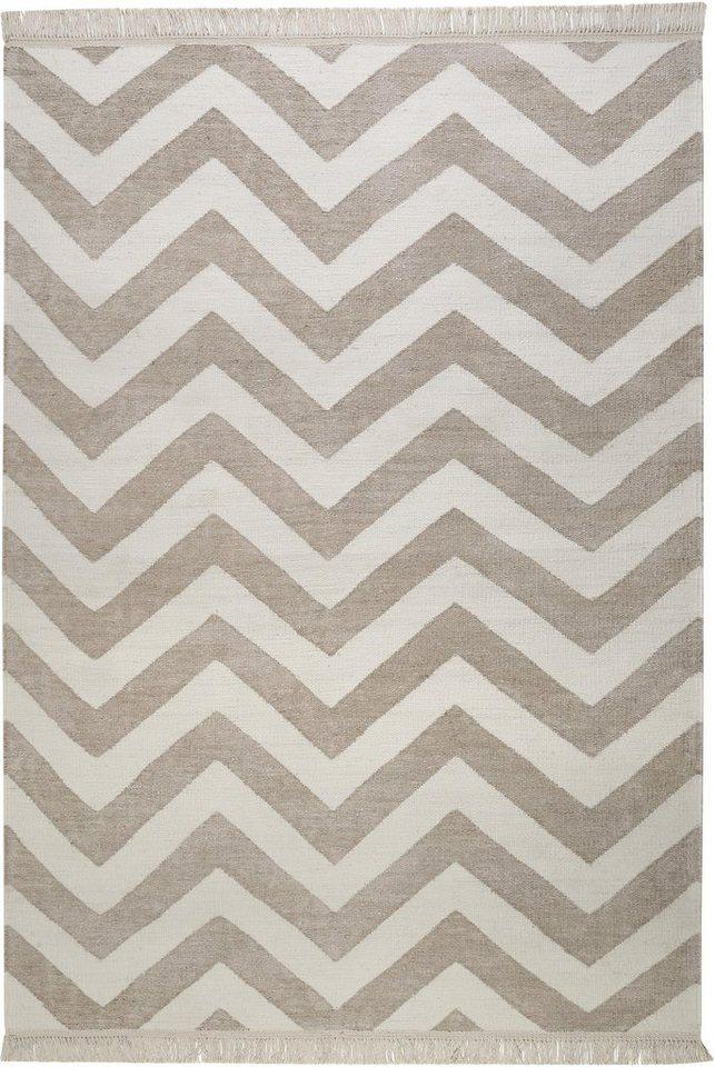Teppich, Carpets&Co, »Zig-Zag«, Höhe: 5 mm, handgewebt