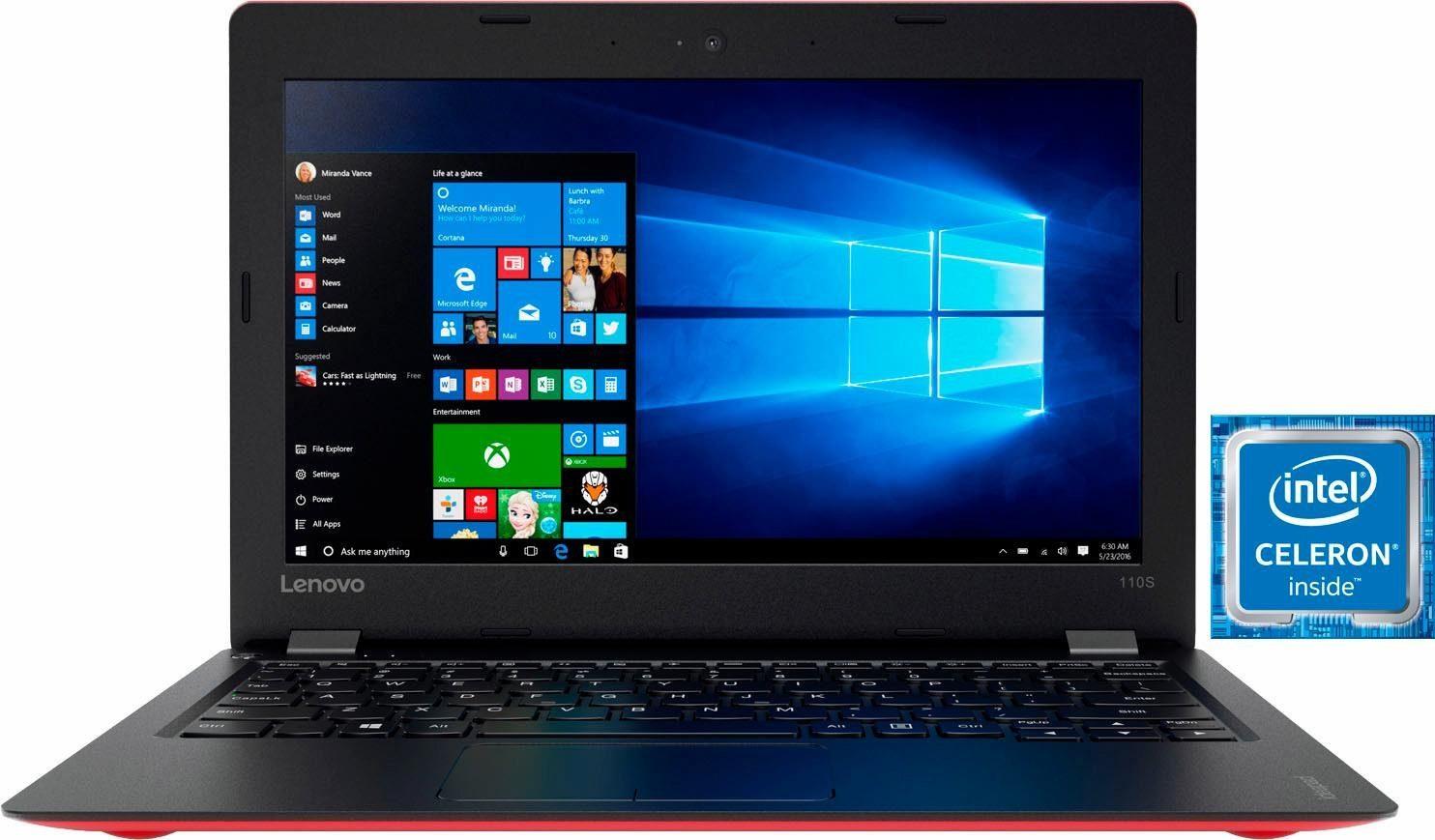 Lenovo Ideapad 110S-11IBR Notebook, Intel® Celeron™, 29,5 cm (11,6 Zoll), 32 GB Speicher