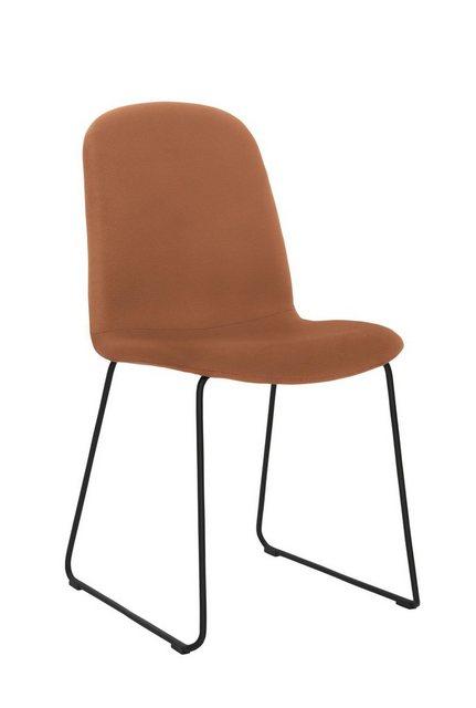 Stühle und Bänke - PBJ Polsterstuhl »Sledge Classic« (2er Set) mit Kufengestell aus schwarzem Metall  - Onlineshop OTTO