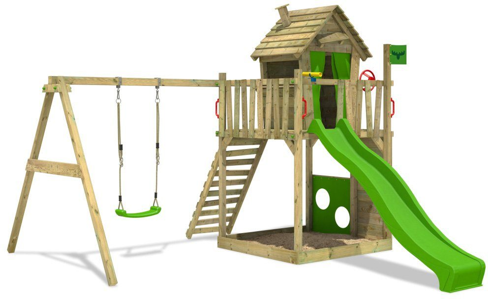 FATMOOSE Spielturm, »HappyHome Hot XXL«