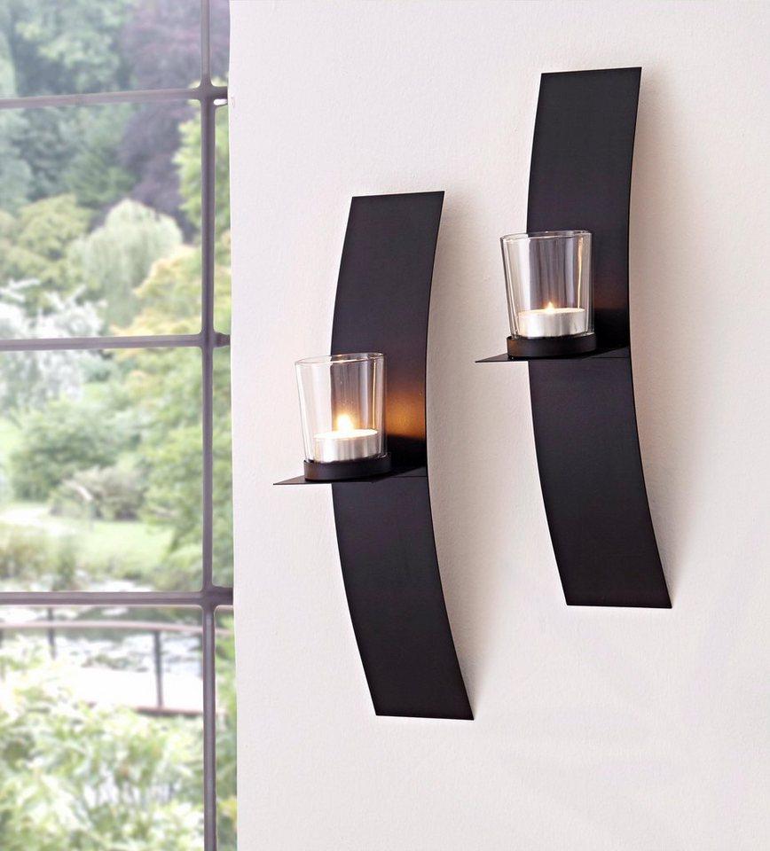 home affaire wandkerzenhalter 2er set kaufen otto. Black Bedroom Furniture Sets. Home Design Ideas