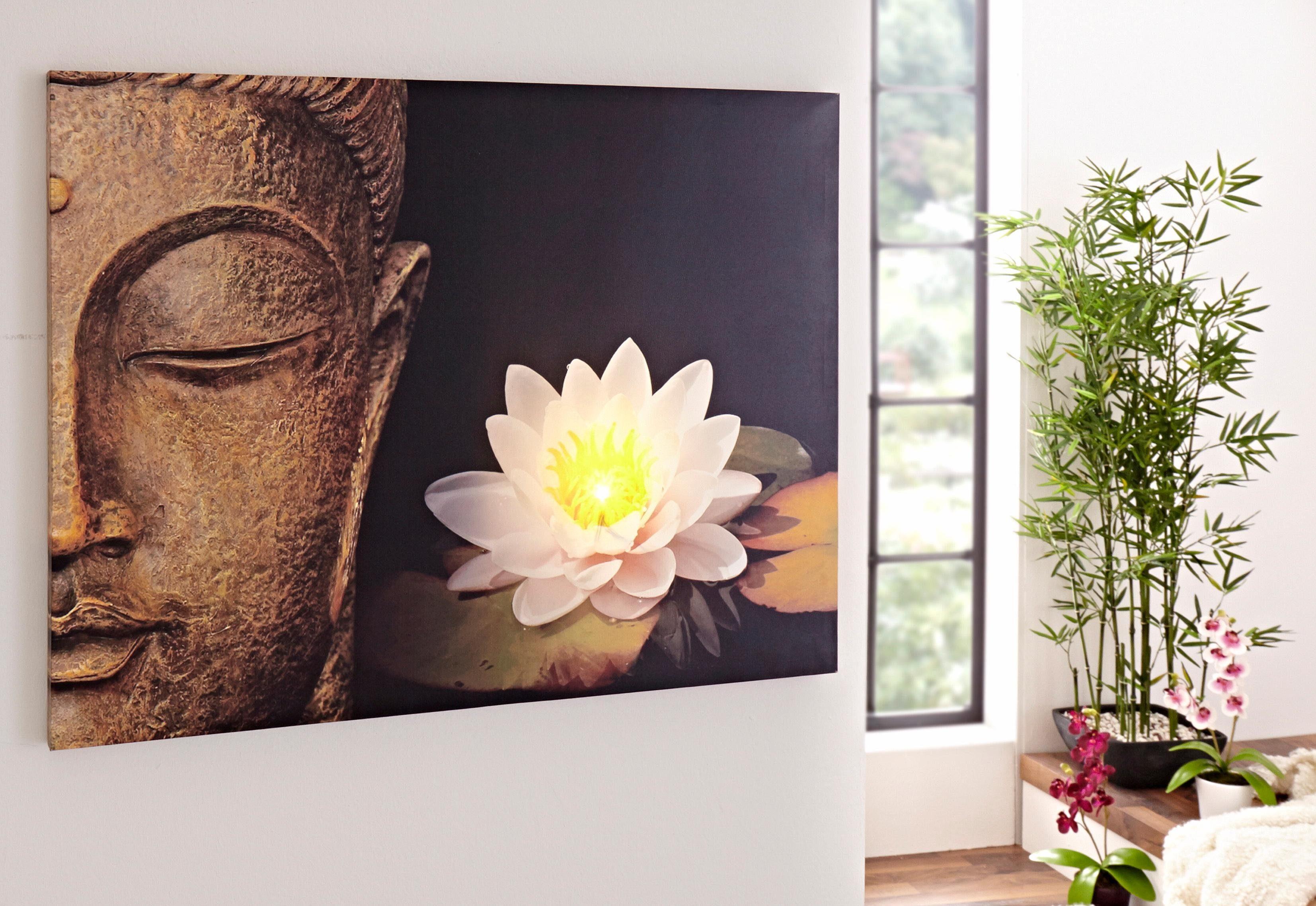 Home affaire LED-Bild »Buddha«