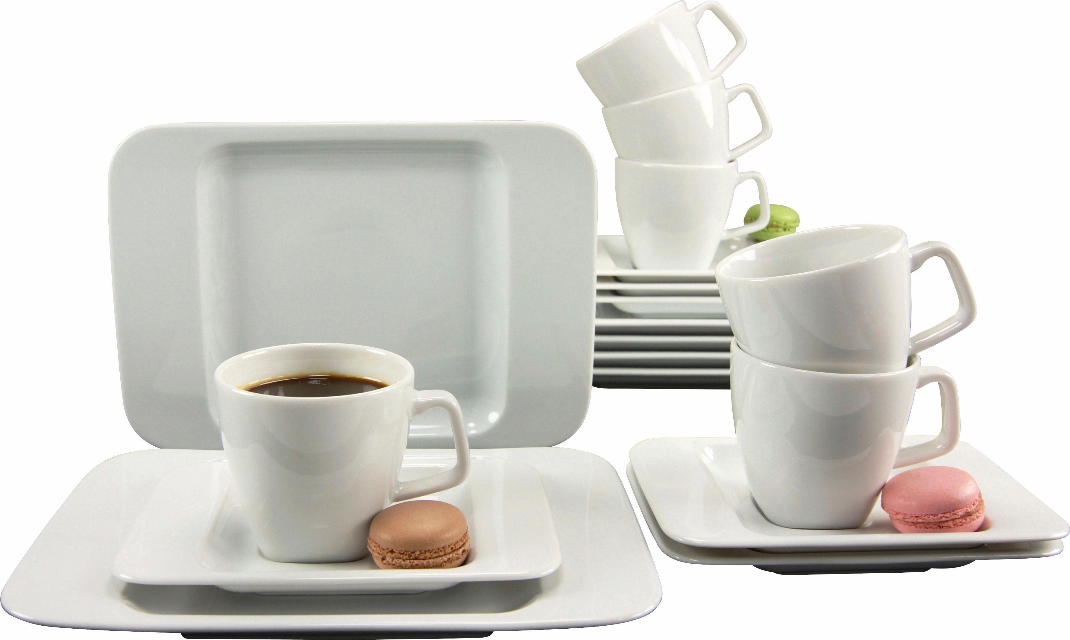 CreaTable Kaffeeservice, Porzellan, »Smart« (18-teilig)