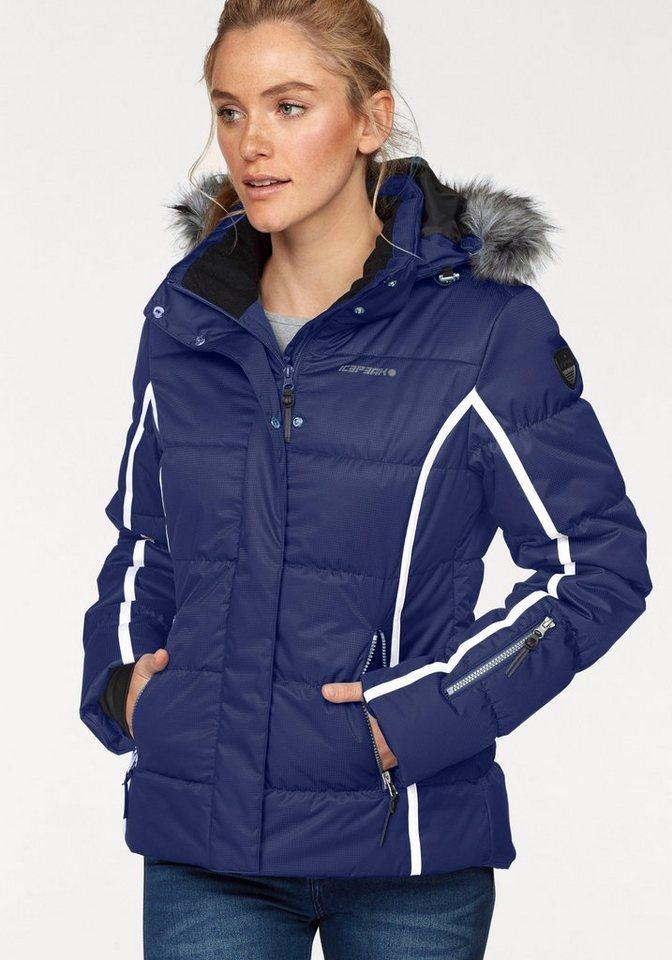 Damen Icepeak Skijacke YASMIN besonders warm wattiert blau | 06413688684150