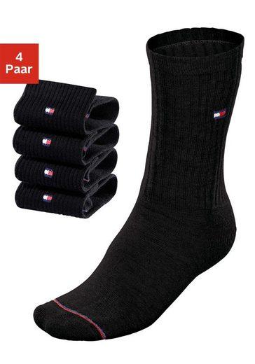 TOMMY HILFIGER Socken (4 Paar) mit Fußfrottee