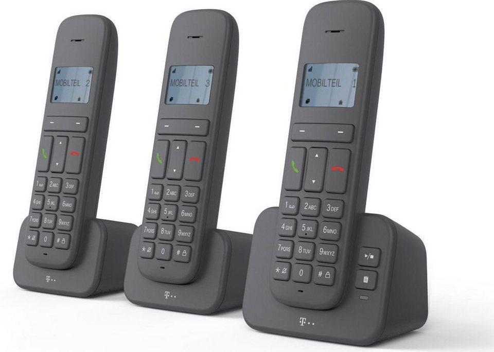 telekom telefon schnurlos ca 37 trio display mit. Black Bedroom Furniture Sets. Home Design Ideas