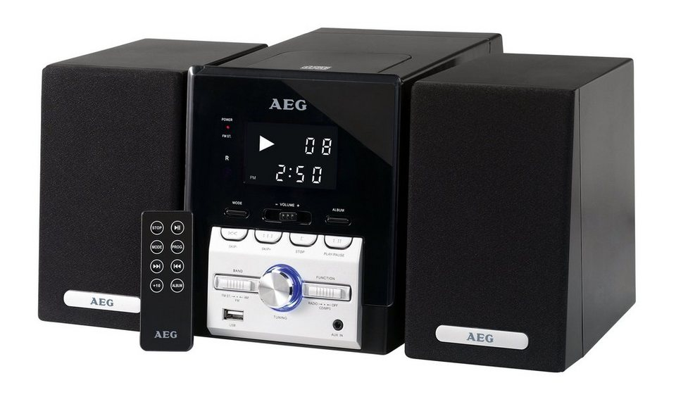 aeg kompaktanlage mit radio cd mp3 player mc 4443. Black Bedroom Furniture Sets. Home Design Ideas