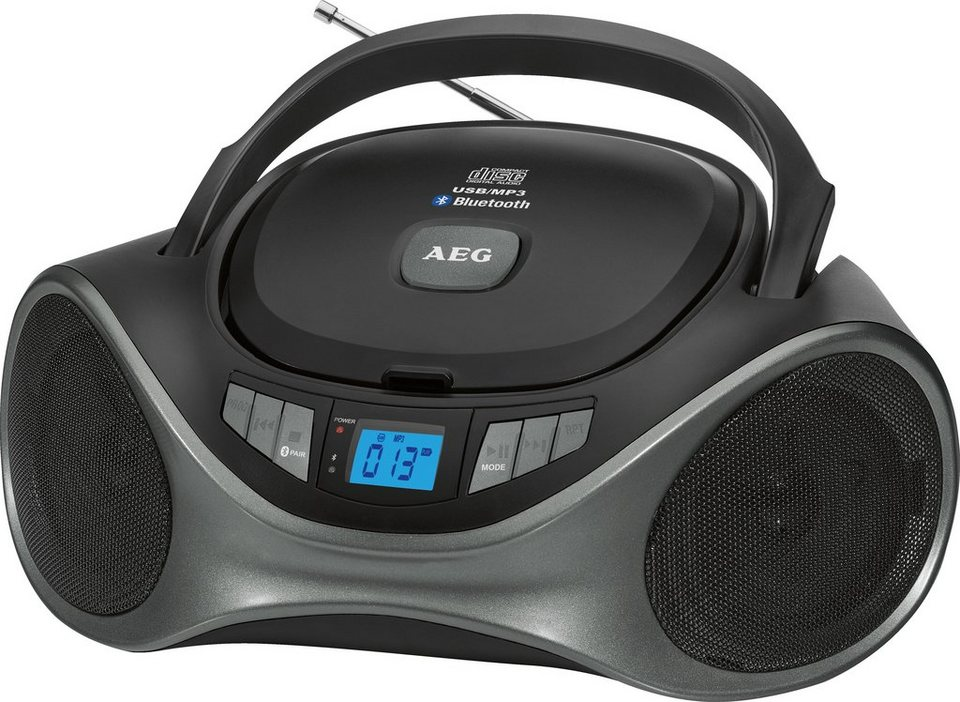 aeg stereoradio mit bluetooth cd mp3 player sr 4375