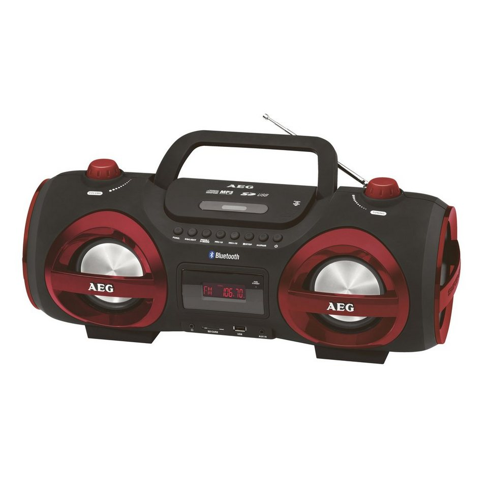 aeg tragbares soundsystem mit radio cd player und. Black Bedroom Furniture Sets. Home Design Ideas