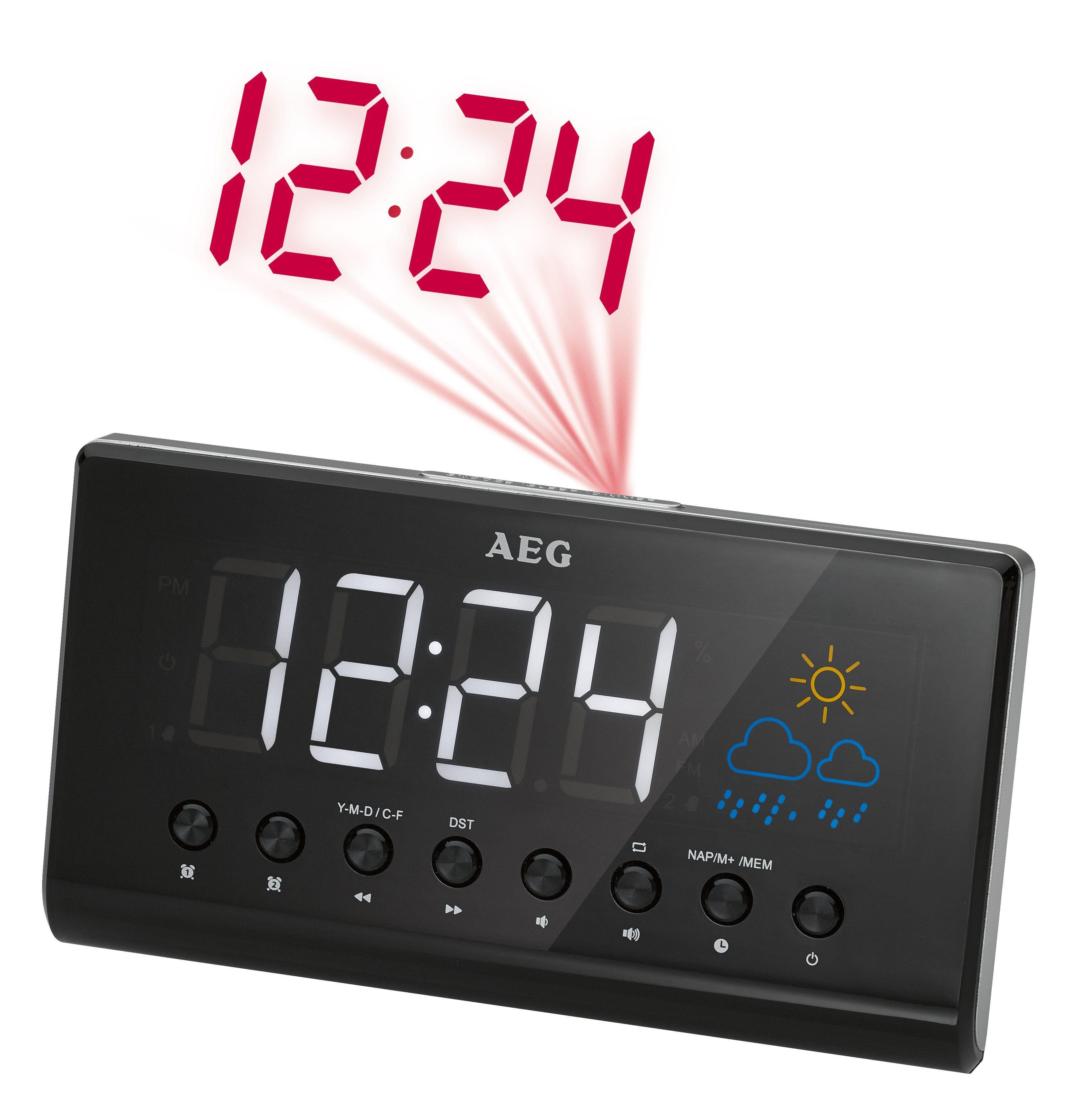 AEG Uhrenradio mit Zeitprojektion & Einschlafautomatik »MRC 4141 P«