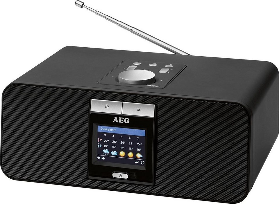 aeg internet stereoradio mit bluetooth usb anschluss ir. Black Bedroom Furniture Sets. Home Design Ideas