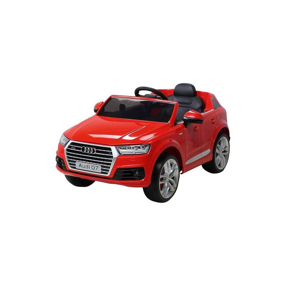 Miweba Kinder Elektroauto Audi Q7 2016 Suv Lizenziert Rot Online