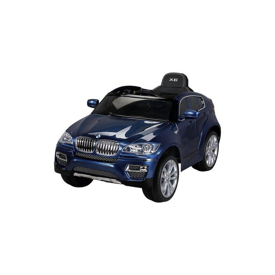 Miweba Kinder Elektroauto BMW X6 Lizenziert, blau