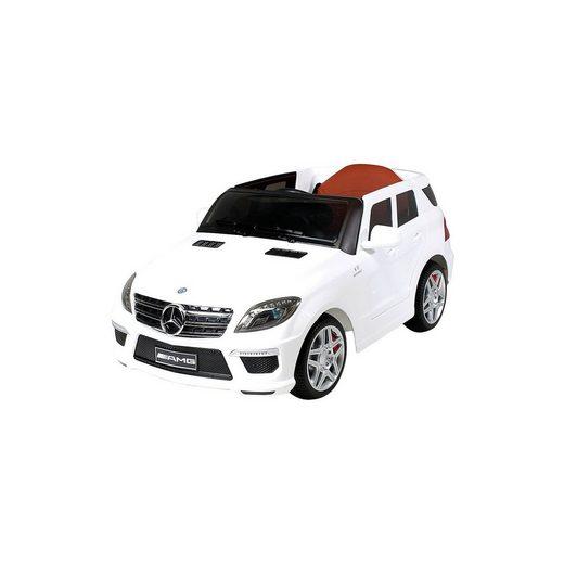 Actionbikes Motors Kinder Elektroauto Mercedes ML63 AMG Lizenziert, weiß