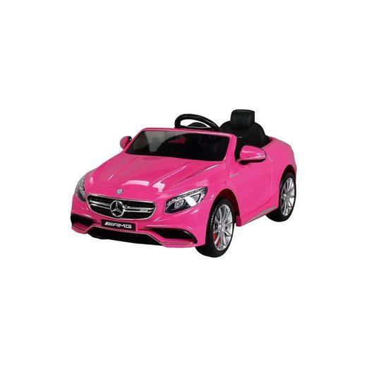 miweba Kinder Elektroauto Mercedes S63 AMG Lizenziert, pink