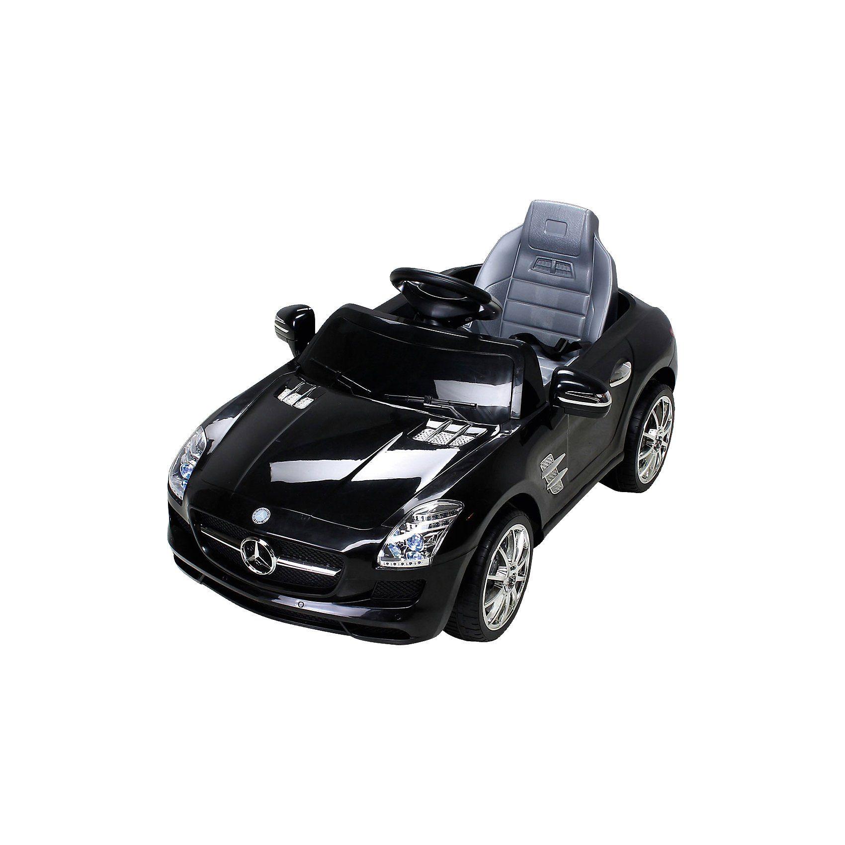 miweba Kinder Elektroauto Mercedes SLS AMG Lizenziert, schwarz