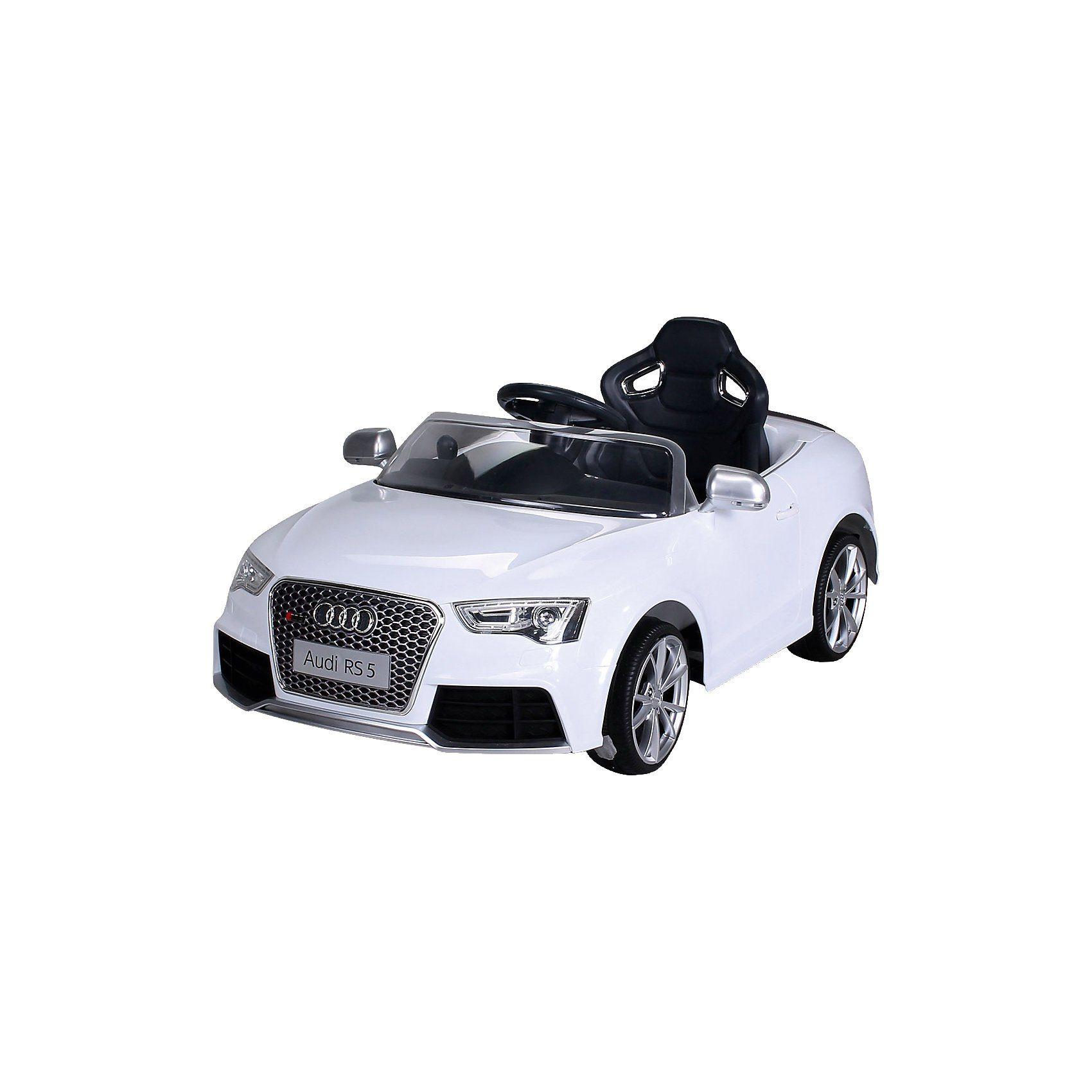 miweba Kinder Elektroauto Audi RS5 Lizenziert, weiß
