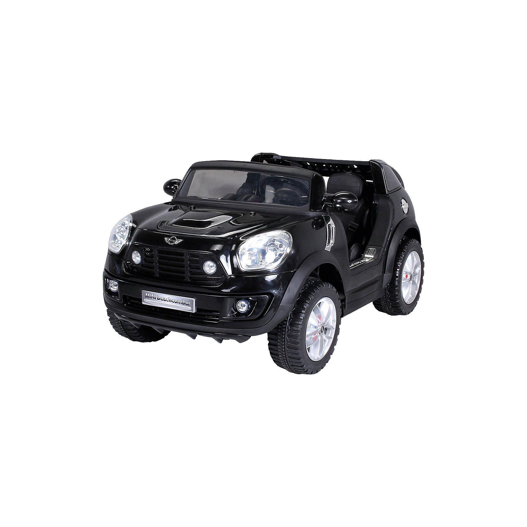 miweba Kinder Elektroauto BMW Mini Beachcomber Lizenziert, schwarz