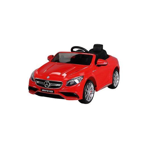 Actionbikes Motors Kinder Elektroauto Mercedes S63 AMG Lizenziert, rot