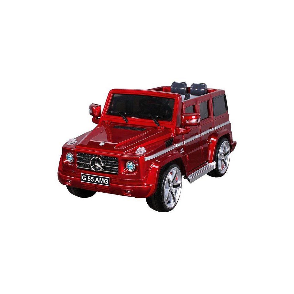 miweba kinder elektroauto mercedes g55 amg lizenziert rot. Black Bedroom Furniture Sets. Home Design Ideas